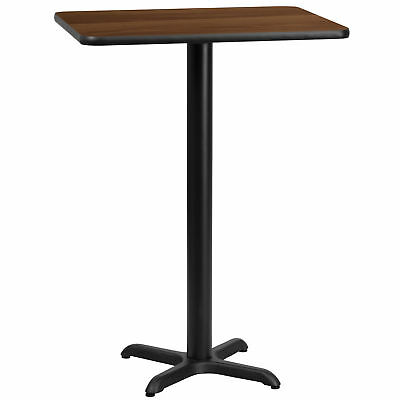 Flash Furniture 24'' x 30'' Rectangular Walnut Laminate Bar Table