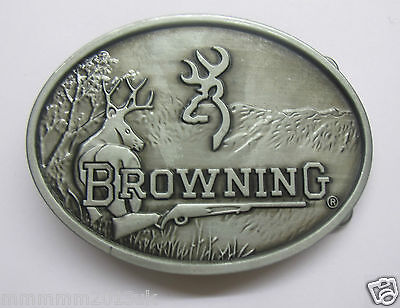 Browning belt Buckle Browning Guns Clay Pigeon buckle Hunting Shooting Belt  MED