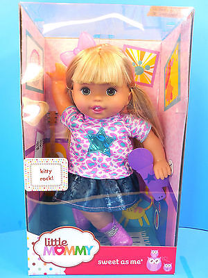 Fisher Price Little Mommy Doll Sweet As Me Kitty Rock ! New