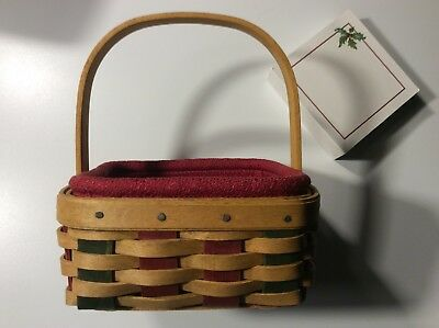 "Longaberger Holiday Helper Basket 2003 5"" square Liner, protector."
