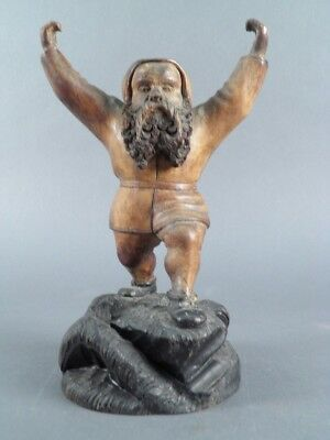Antique European German French Carved Wood Figurine Sculpture Scholar