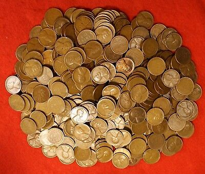 1934-P LINCOLN WHEAT CENT PENNY 50 COIN ROLL av circ GREAT COLLECTOR COINS GIFT