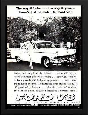 "1956 WORLD WIDE FORD TRUCKS AD AD PRINT WALL POSTER PICTURE 33.1""x23.4"""