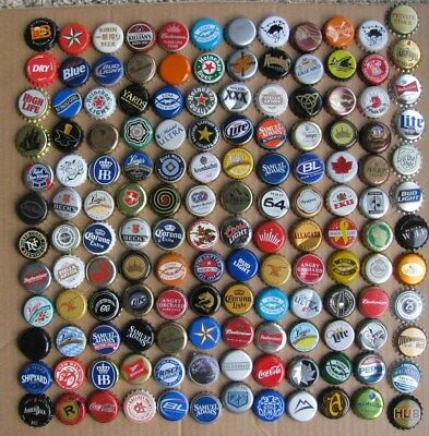 144 Different Mixed Worldwide Current/obsolete Beer Bottle Caps Lot#6  17 Unused