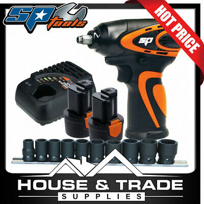 "SP Tools Impact Wrench Cordless 12v 3/8""Dr Mini Kit 2.0Ah Li-Ion +BONUS SP81114"