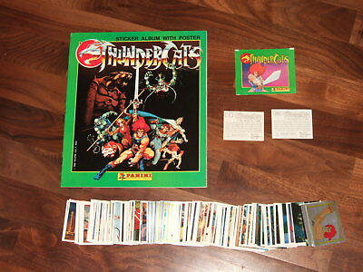 Thundercats 1986 Panini Empty sticker album, Complete loose 264 Sticker Set &...