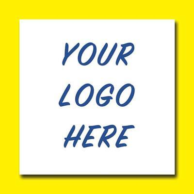 Personalised Square Business Name Stickers Thank You Seals Your Logo Labels 37Mm