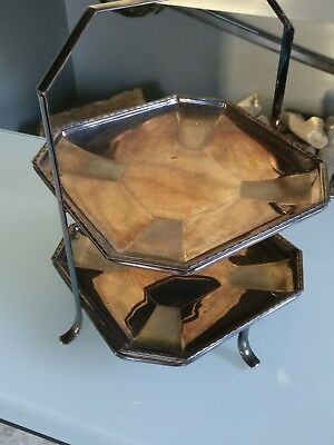 Silver Plater Cake Stand Art Deco Style