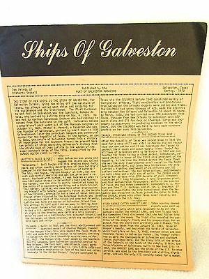 SHIPS OF GALVESTSTON ~ HISTORY, MAPS AND 10 FRAMABLE PRINTS of HISTORIC VESSELS