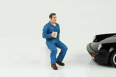 Mechanic Garage Jonny Break Coffee Figurine Figurines 1:18 American Diorama