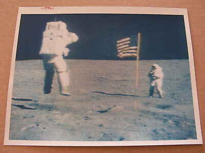 "Apollo 16 John Young Jump Salute 8x10 Red Serial # ""A Kodak Paper"" NASA Photo"
