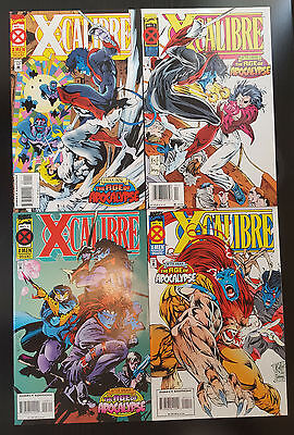 X-Calibre #1-4 Complete Set (1995, Marvel) 2 3 Age of Apocalypse Excalibur X-Men