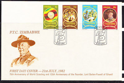 Zimbabwe 1982 Scouting 75th Anniversary First Day Cover - Pictorial Cancel