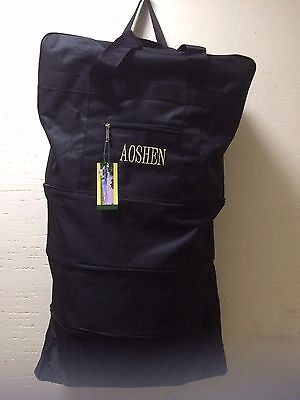 """34"""" Polyester Expandable Rolling Wheeled Duffel Bag, Spinner set of two (X2)"""