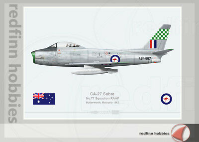Warhead Illustrated CA-27 Sabre 77 Sqn RAAF A94-967 Aircraft Print