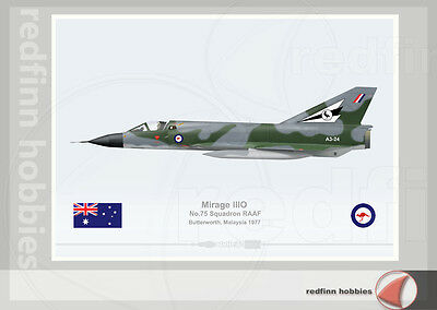 Warhead Illustrated Mirage IIIO RAAF 75Sqn Aircraft Print