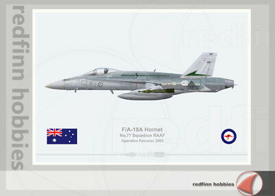 Warhead Illustrated F/A-18A Hornet RAAF 77Sqn Operation Falconer Aircraft Print