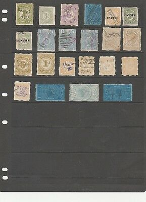 Australia Victoria Just A Small Selection Of Mint And Used Stamp Duty Stamps