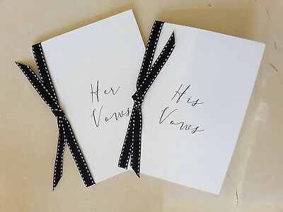 Wedding Vow Booklet, His and Hers for Wedding Ceremony