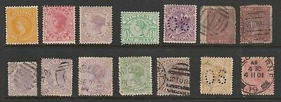 Australia Victoria Qv 1863 Onwards Selection Of Mint Used And Unused Stamps