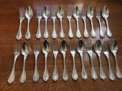 Antique French .950 Sterling Flatware Set, Paris, 12 Forks, 12 Spoons