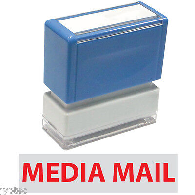 "JYP PA1040 Rectangle Stock Pre-Inked Rubber Stamp with ""Media Mail"""