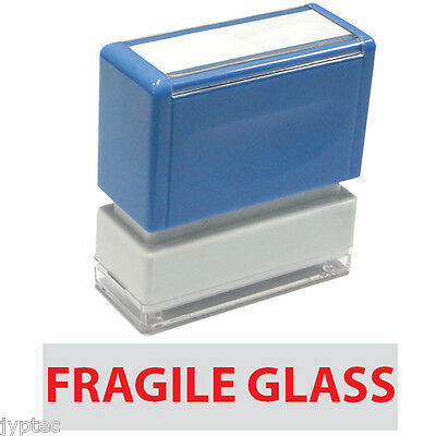 "JYP PA1040 Rectangle Stock Pre-Inked Rubber Stamp With ""Fragile Glass"""