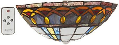 It's Exciting Lighting AMB1003 Ambience Wireless Wall Sconce Half Moon Staine...