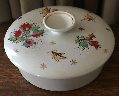Vintage Royal Gouda Goedewaagen Holland Hand Painted Bowl w/ Lid, 1523 - Roda