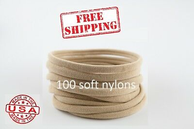100 Nude Nylon Headbands for Bows Wholesale Nylon Headband one size fits most