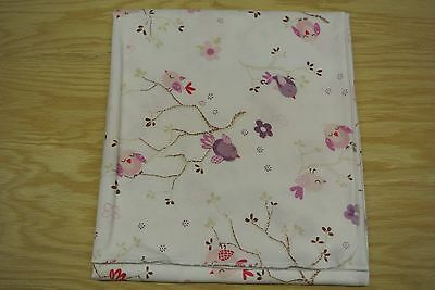 Cherry Blossoms Birds Baby Blanket Bamboo Cotton 36x40 Can Be Personalized