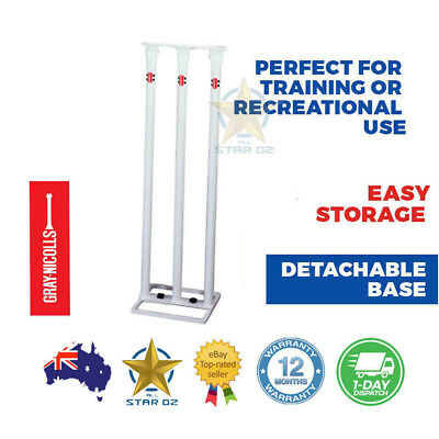 Metal Stumps Free Standing Cricket Training Backyard Wicket Use New Gray Nicolls