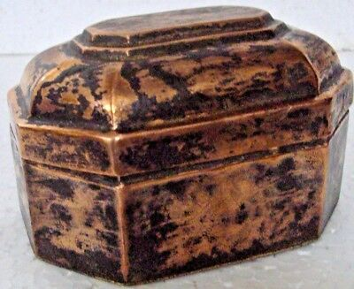 Old Copper Handcrafted Bettel Nuts Supari Box , Rich Patina