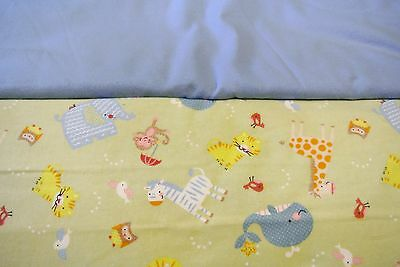 Noah's Ark Animals Baby Blanket Double Sided Can Personalize 36x40