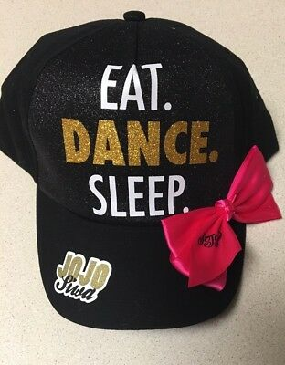 Nwt Jojo Siwa Eat Dance Sleep Bow Black Hat Cap