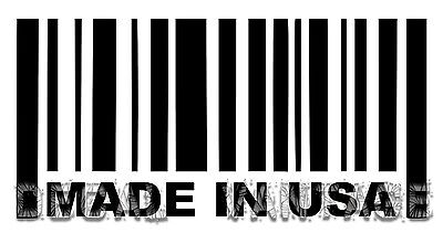 Made In USA Barcode Vinyl Sticker Decal America States - Choose Size & Color