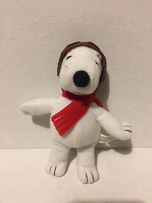 """United Feature Syndicate Flying Ace Red Baron Pilot Snoopy Plush 5"""""""
