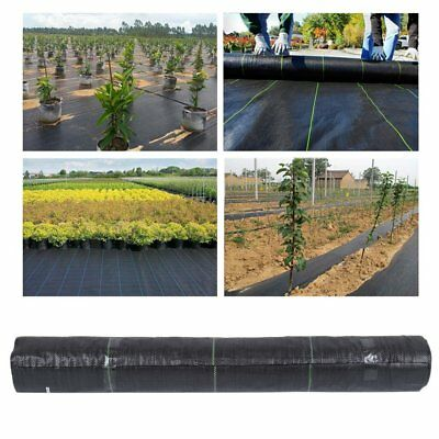 2m wide 100gsm weed control fabric ground cover membrane landscape mulch DE