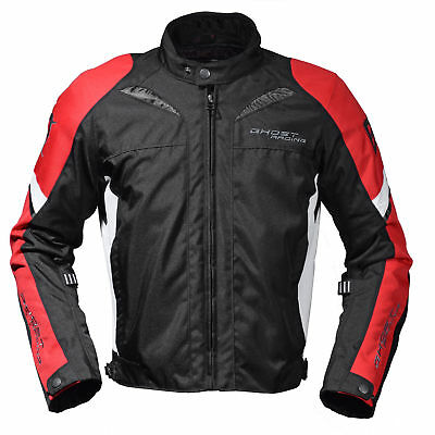 Ghost Protective windproof Waterproof Motorcycle Racing Jacket (red green black)