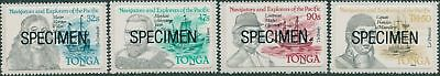 Tonga 1985 SG896-899 Navigators and Explorers SPECIMEN set MNH