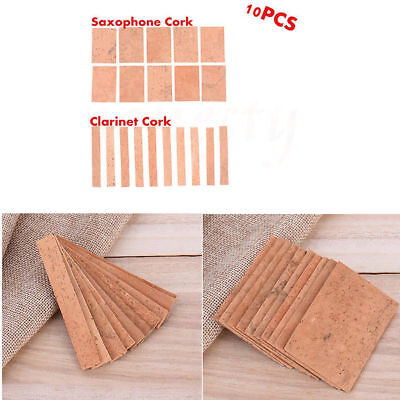 10pcs Professional Saxophone Clarinet Joint Pad Set Natural Neck Cork Sheet