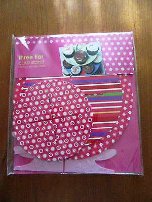 Cake Stand - 3 Tier Cardboard Flat Pack - Party Birthday Afternoon Tea