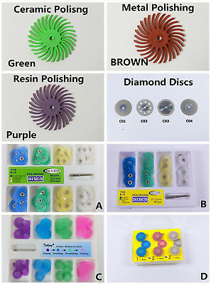 Dental Composite Polishing Kit Discs Spiral Finishing Wheel Diamond Disc Mandrel