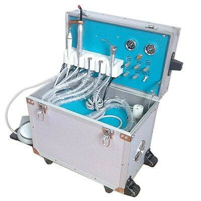 NEW Dental Portable Delivery Unit w/ Ultrasonic Scaler+Curing Light+Syring+Tube