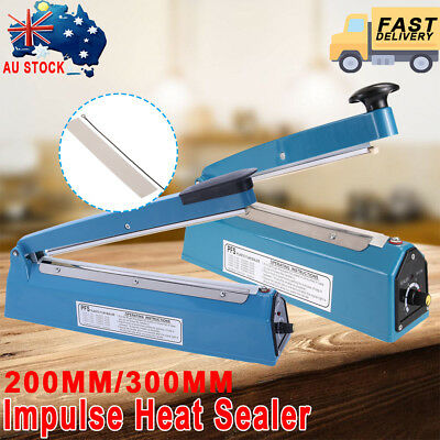 "8""/12"" Impulse Heat Sealer 300mm Electric Plastic Poly Bag Hand Sealing Machine"