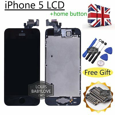 For iPhone 5 LCD Touch Screen Digitizer Display Full Assembly Replacement Black