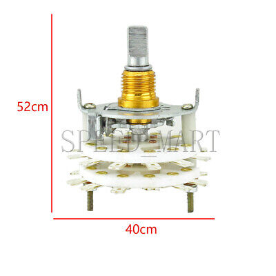 High-power Ceramic Rotary Switch 2 pole 11 position for change voice frequency