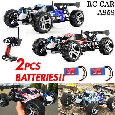 50km/h Wltoys A959 RC Car 2.4G Remote control 4WD Off-Road RC Buggy + 1x Battery