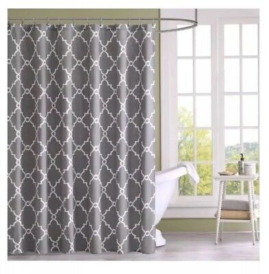 Madison Park Serene Flora Fabric Shower Curtain Mbroidered Transitional Curtains For Bathroom 72 X