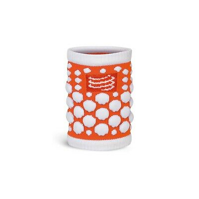 Serre-poignets Compressport Sweat Band Dots Fluo Orange